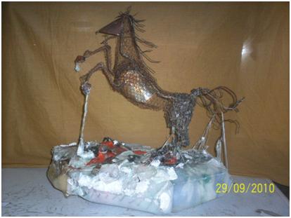 Primer Premio concurso de Escultura Reciclada Parque Nacional Lago Puelo